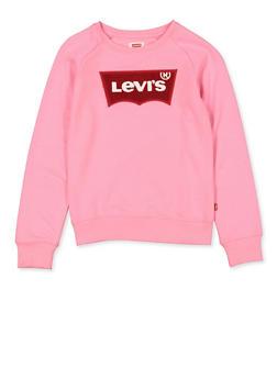 Girls 7-16 Levis Crew Neck Sweatshirt | Pink - 3625070340015