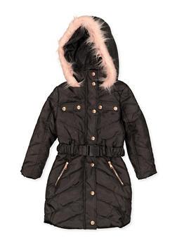Girls 4-6x Hooded Long Puffer Coat - 3626038340032