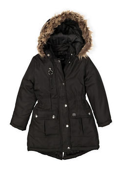 Girls 4-6x Hooded Long Puffer Jacket - 3626051060020