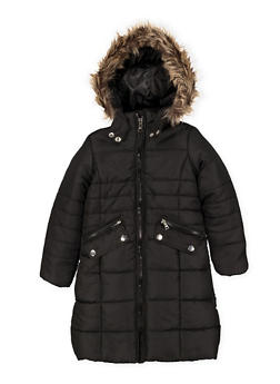 Girls 4-6x Long Puffer Jacket - 3626051060021