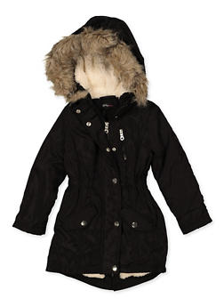 Girls 4-6x Sherpa Lined Hooded Jacket - 3626051060031