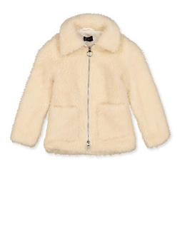 Girls 4-6x Sherpa Zip Front Jacket - 3626051060033
