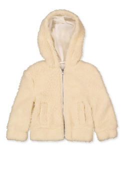 Girls 4-6x Hooded Zip Sherpa Jacket - 3626051060034