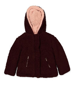 Girls 4-6x Zip Front Sherpa Jacket - 3626051060035