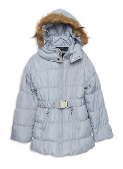 Girls 7-16 Long Quilted Puffer Jacket - 3627038340022