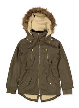 Girls 7-16 Sherpa Lined Anorak Jacket - 3627038340040