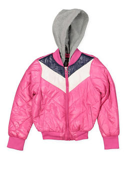 Girls 7-16 Color Block Puffer Jacket - 3627051060028