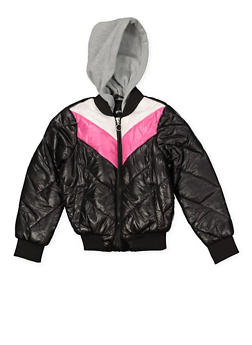 Girls 7-16 Color Block Puffer Jacket - 3627051060029