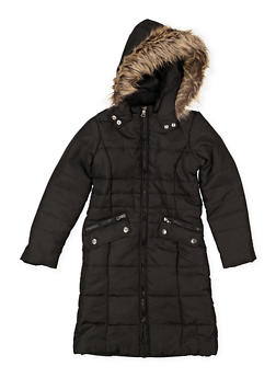 Girls 7-16 Long Puffer Jacket - 3627051060035