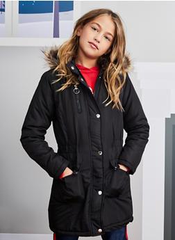 Girls 7-16 Hooded Long Puffer Jacket - 3627051060036