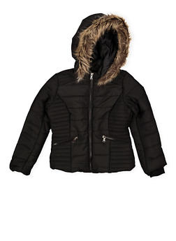 Girls 7-16 Hooded Puffer Jacket - 3627051060038