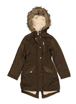 Girls 7-16 Sherpa Lined Jacket - 3627051060049