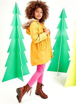 Girls 7-16 Sherpa Lined Hooded Jacket - 3627051060050