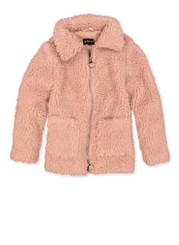 Girls 7-16 Solid Sherpa Jacket - 3627051060055