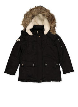 Girls 7-16 Two Pocket Hooded Jacket - 3627051060058