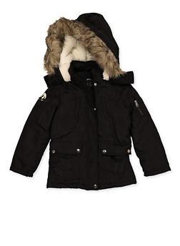 Girls 7-16 Hooded Two Pocket Jacket - 3627051060059