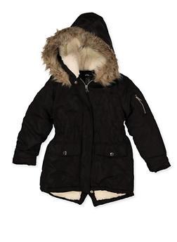 Girls 7-16 Hooded Sherpa Lined Jacket - 3627051060060
