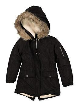 Girls 7-16 Hooded Sherpa Lined Puffer Jacket - 3627051060061
