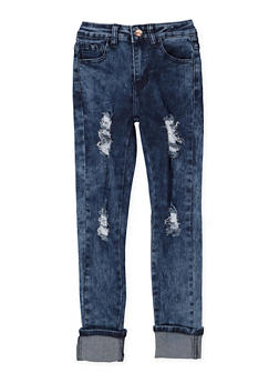 Girls 4-16 Distressed Skinny Jeans - 3628056720019