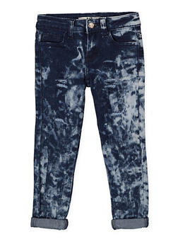 Girls 4-6x Distressed Acid Wash Jeans - 3628056720022
