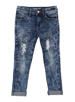 Girls 4-6x Distressed Skinny Jeans - 3628056720023