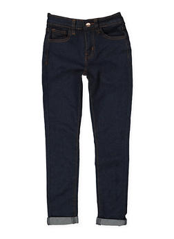 Girls 4-6x Roll Cuff Skinny Jeans - 3628056720025