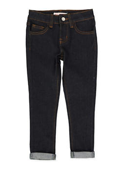 Girls 4-6x Solid Rolled Cuff Jeans - 3628056720036