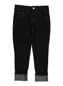 Girls 4-6x Solid Dark Wash Skinny Jeans - 3628056720040
