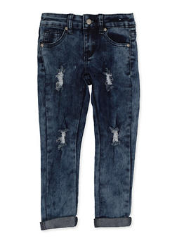 Girls 4-6x Distressed Skinny Jeans - 3628056720045