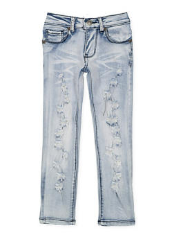 Girls 4-6x Destroyed Skinny Jeans - 3628063400009