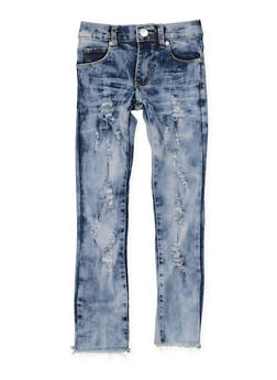 Girls 4-6x Distressed Frayed Hem Jeans - 3628063400028