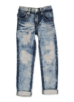 Girls 4-6x Destroyed Roll Cuff Jeans - 3628063400054