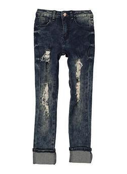 Girls 7-16 Distressed Skinny Jeans - 3629056720014