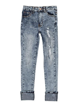 Girls 7-16 Acid Wash Skinny Jeans - 3629056720017