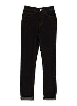 Girls 7-16 Dark Wash Roll Cuff Skinny Jeans - 3629056720044