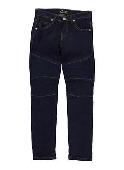 Girls 7-16 Crinkled Moto Jeans - 3629063400038