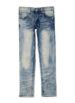 Girls 7-16 Faded Whisker Wash Jeans - 3629063400043