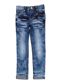 Girls 7-16 Whisker Wash Skinny Jeans - 3629063400052