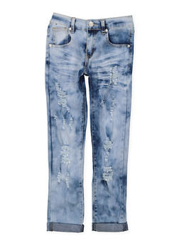 Girls 7-16 Ripped Acid Wash Jeans - 3629063400057