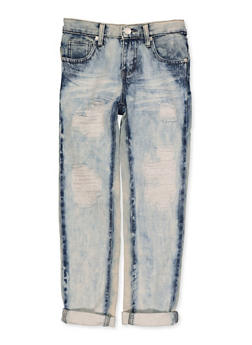 Girls 7-16 Distressed Acid Wash Jeans   3629063400075 - 3629063400075