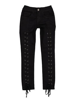 Girls 7-16 VIP Lace Up Jeans - 3629065300084