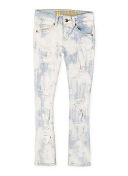 Girls 7-16 VIP Ripped Cloud Wash Jeans - 3629065300085