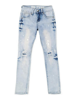 Girls 7-16 VIP Paint Splatter Jeans - 3629065300088