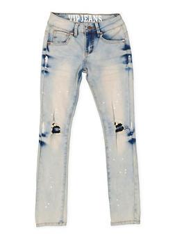 Girls 7-16 VIP Rip and Repair Jeans - 3629065300089
