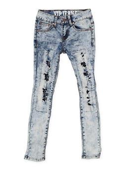 Girls 7-16 VIP Rip and Repair Jeans - 3629065300090