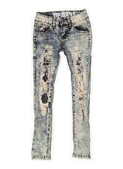 Girls 7-16 VIP Patch and Repair Jeans - 3629065300091