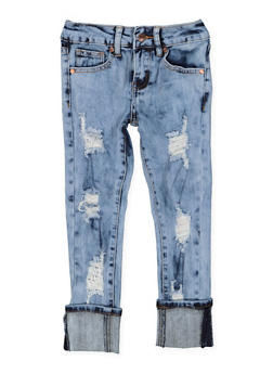 Girls 7-16 VIP Destroyed Jeans - 3629065300093