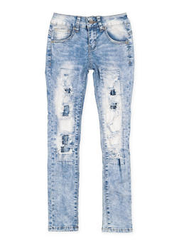 Girls 7-16 VIP Patch and Repair Jeans - 3629065300094