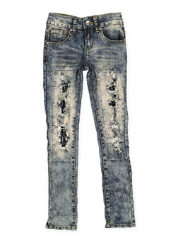 Girls 7-16 VIP Patch and Repair Jeans - 3629065300095