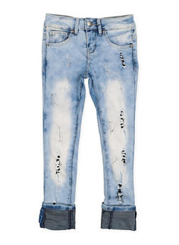Girls 7-16 VIP Distressed Jeans - 3629065300100